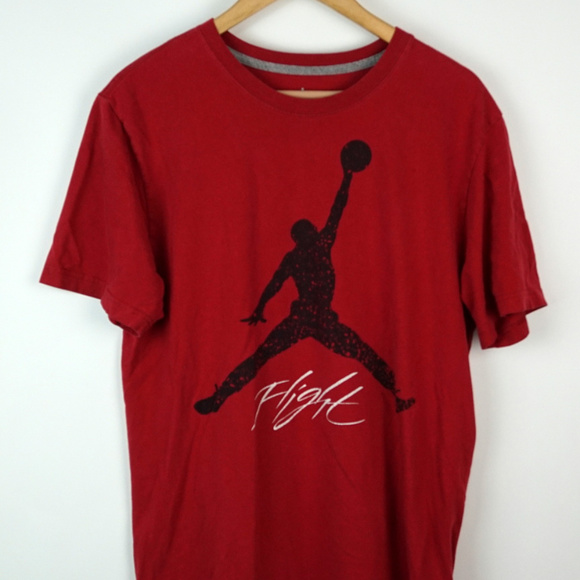 815d964514f Jordan Shirts   Air Jumpman Flight Tshirt Red Black Bred   Poshmark